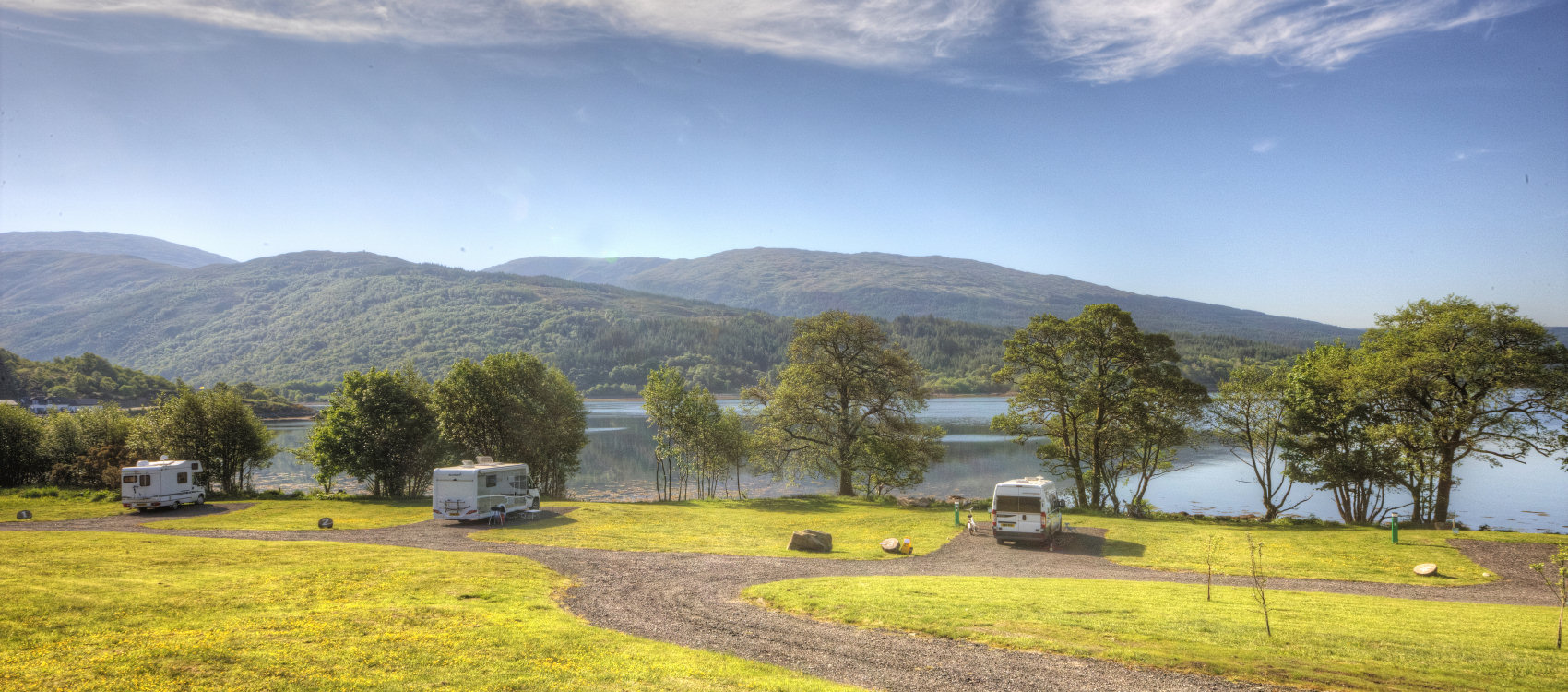 Our small touring park on the West Coast of Scotland